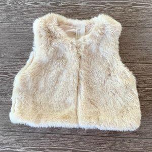 🆕 H&M faux fur baby vest